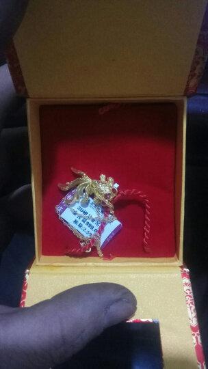 福强珠宝 黄金吊坠女金鱼吊坠3D硬足金挂坠女年年有鱼金项链吊坠 送礼送家人 A2076 3.18克 晒单图