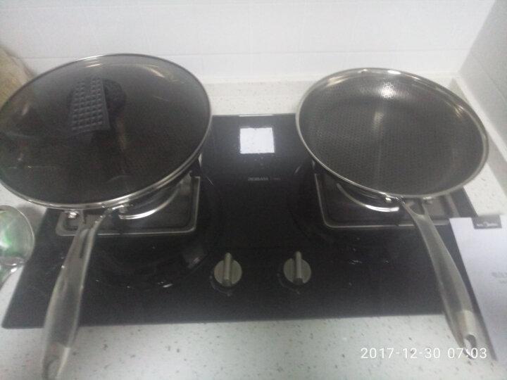 钻技(ZUANJ) 不粘锅 锅具套组304不锈钢少油烟聚能不粘炒锅煎锅两件套装电磁炉燃气通用 ZJ-B3P30 晒单图