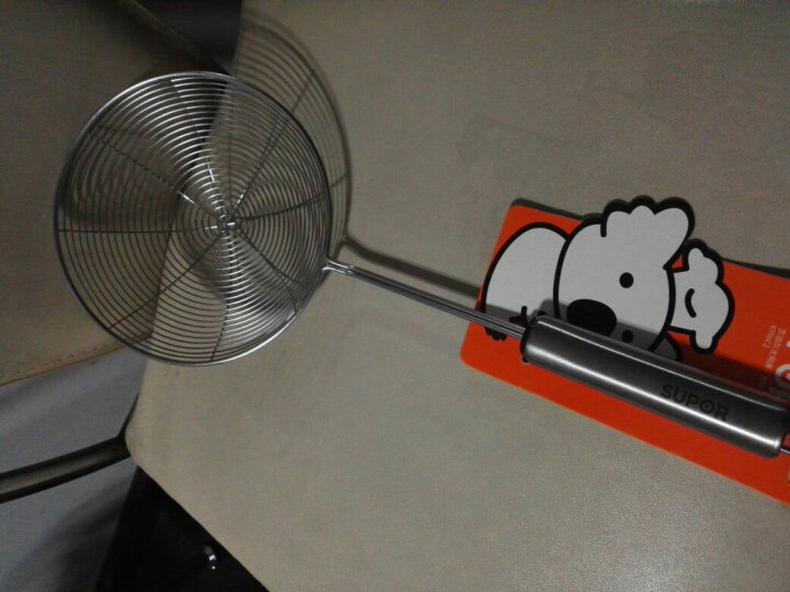 苏泊尔(SUPOR) 不锈钢多功能自由组合配件 炒菜铲子 捞勺 滤网捞面条 大网漏-KT06C2 晒单图