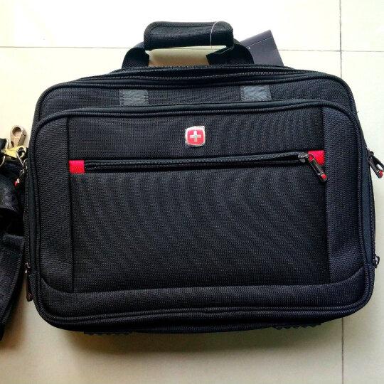 瑞士军刀SWISSGEAR电脑包旅行包男女通用公文包商务手提单肩包斜挎包可放15寸电脑 2105黑色大的 晒单图