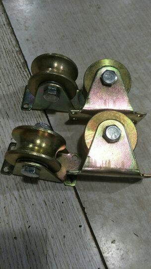 V型轮U型轮钢丝轨道轮轴承滑轮槽轮轨道滑轮定滑轮U槽滑轮小滑轮钢丝滑轮铁门滑轮直线轮定向轮 2.5寸U型轨道轮 晒单图
