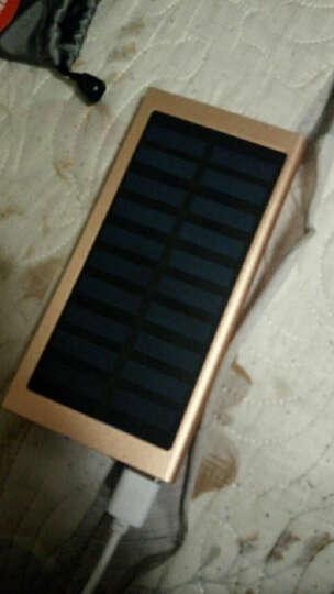 50000M太阳能充电宝手机通用苹果vivo华为荣耀三星OPPO小米快充20000毫安超薄小巧迷你 深蓝色-太阳能+充电器 晒单图