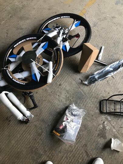 凤凰(Phoenix) 凤凰自行车山地车21/24/27速26寸变速公路单车学生成人男女 24速(24寸)白蓝色-顶配升级版 晒单图