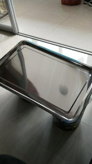 帮太太 加厚不锈钢方盘 不锈钢托盘 长方形托盘子 餐盘 烧烤盘 饭盘菜盘 浅盘60*40*2cm 晒单图