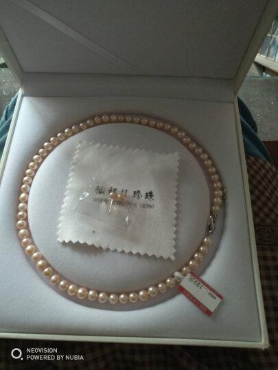 仙妮儿珠宝 淡水珍珠项链 强光亮泽高性价比女款送珍珠耳钉 感恩款 送妈妈送老婆礼物 特饱满8-9mm白色长度45cm 晒单图