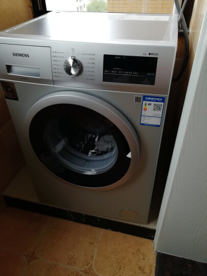 西门子(SIEMENS 8公斤全自动滚筒BLDC变频电机除菌液洗1200转洗衣机WM12N1680W 银色 晒单图