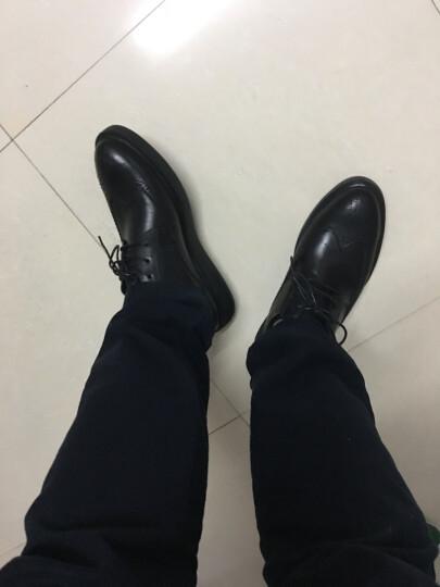雅迈郎 商务休闲皮鞋男士布洛克雕花皮鞋男鞋真皮英伦软底舒适正装鞋 黑色 40 晒单图