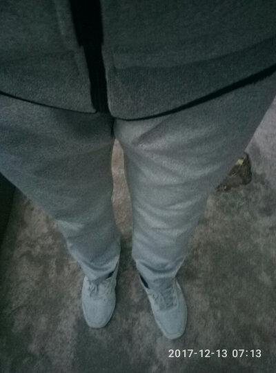 朗思哲(LANGSIZHE)2019春秋季新款时尚情侣两件套休闲跑步健身运动套装女情侣户外运动服 灰色 XL 晒单图