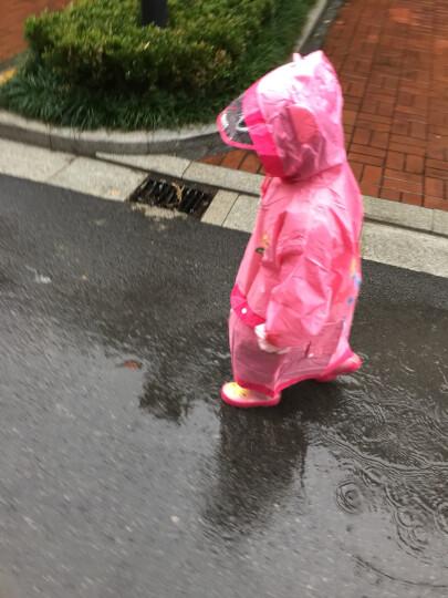 KOCOTREE儿童雨鞋雨衣套装宝宝雨靴雨披男童女童雨鞋防滑小孩水鞋春夏天雨鞋潮版 粉色套装XL 晒单图
