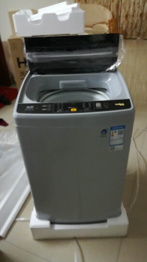 海尔(Haier)8公斤直驱变频波轮全自动洗衣机 智能app控制 飓风瀑布洗 智能称重节能省水 EB80BM2WU1 晒单图