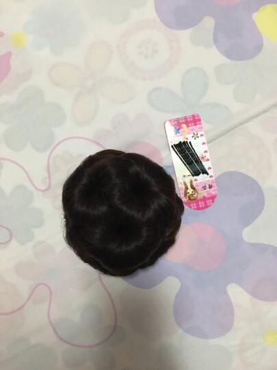 allaosify 假发发包盘头花苞发饰抓夹式九朵花卷发包假丸子头古装假发包 自然黑 晒单图
