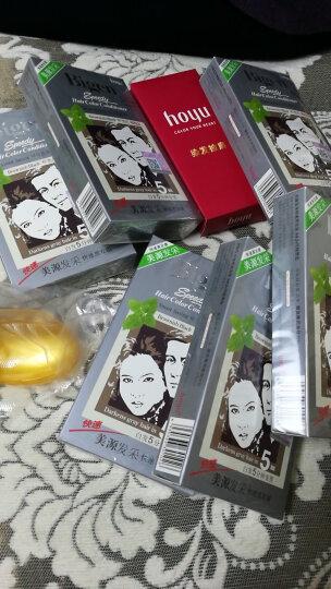 美源(Bigen) 日本美源染发剂发采快速盖白黑发霜发彩染发霜白发变黑色植物精华遮白黑油一梳黑染发膏 884 天然棕色(进口) 晒单图