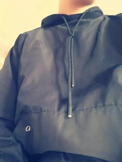 Jazky卫衣男士连帽情侣卫衣外套2018秋新款运动外衣潮人卫衣休闲大码男装上衣 DM24黑色 XXL 晒单图
