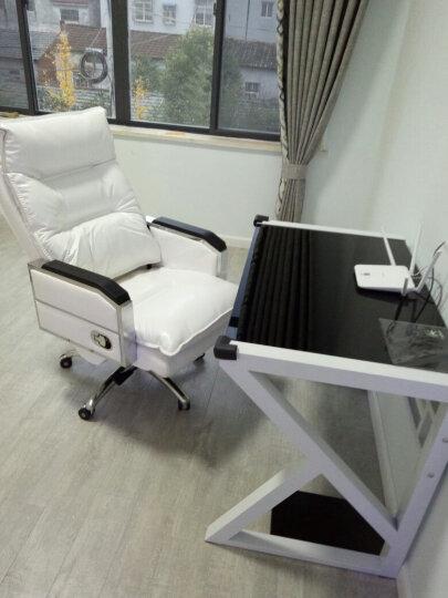 品仪 电脑椅真皮老板椅家用宿舍可躺按摩椅简易主播椅办公椅大班椅电竞升降转椅人体工学折叠椅 白色(鹅毛珠光西皮) 晒单图