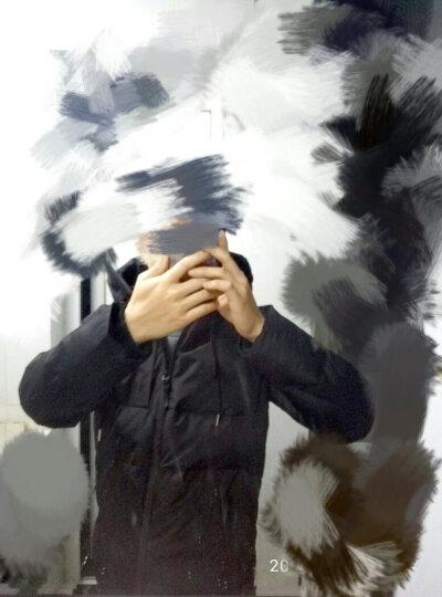 潮至短款羽绒服男2017冬装韩版修身加厚保暖青年上衣外套潮牌个性学生面包服网红王源同款 黑色 L 晒单图