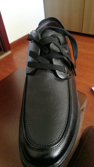 富贵鸟(FGN) 冬季棉鞋加绒男鞋保暖休闲鞋男高帮雪地靴棉靴马丁靴真皮靴 D791050R 黑色 系带款 41 晒单图