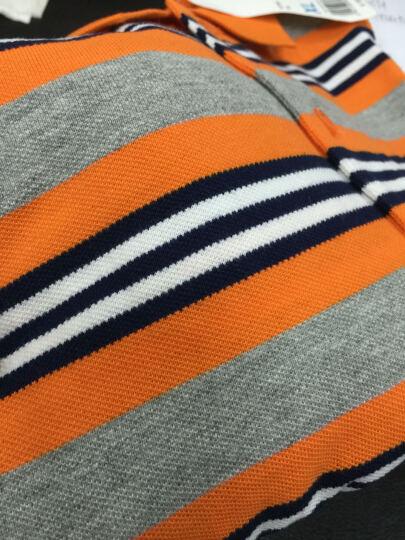 【调货】Baleno/班尼路 潮流撞色polo衫男 休闲商务条纹翻领短袖T恤男 69P黑莓紫 L 晒单图