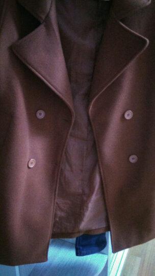 依睿萱毛呢大衣女2017秋冬季新款韩版宽松中长款呢子外套时尚显瘦女装风衣 黑色 M 100-115斤 晒单图