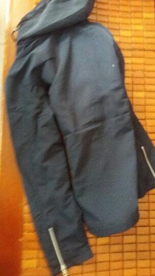 【MOZ】夹克男秋季新款外套男双面穿韩版修身潮流时尚加绒保暖休闲男装 2218单面穿#黑色 4XL(建议165-185斤) 晒单图