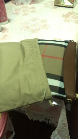BURBERRY 巴宝莉 女士格纹棕色织物配皮斜挎包 39753741 晒单图
