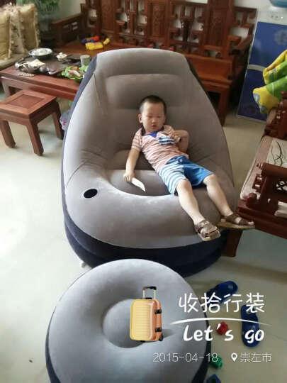 INTEX舒适植绒充气沙发床 单人懒人休闲沙发 午休床 办公室午睡床 折叠床躺椅子凳子 本款+脚泵 晒单图
