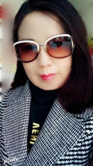 好伊坞 毛呢大衣女中长款2018秋冬新款韩版千鸟格呢子外套F685 红线格 XL 晒单图