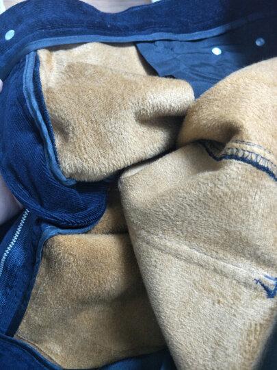 罗蒙2017灯芯绒男裤秋冬季休闲裤男青年修身弹力加绒长裤条绒裤男 紫红 加绒 32  2尺5 晒单图