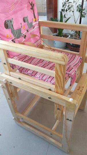 特儿福(TEERFU) 特儿福儿童餐椅实木宝宝餐椅多功能婴儿餐椅可折叠宝宝吃饭餐桌 Q7PLUS升级款蓝色小马坐垫 晒单图
