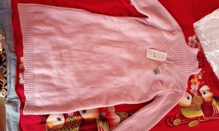 南极人 针织衫女2018秋冬季新品韩版外套中长款打底衫加厚纯色半高领毛衣女 M1316 粉色 L 晒单图