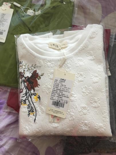 艾路丝婷2019新款T恤女长袖上衣女士体恤圆领纯棉打底衫TX3689 酒红色 165/88A/L 晒单图