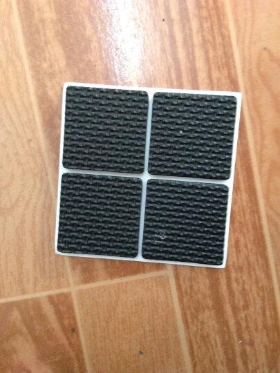 EVA橡胶强粘力不干胶桌椅垫垫脚桌椅脚垫家具垫脚垫脚垫保护垫黑色5mm厚规格齐全 4cm*4cm正方形(4片装) 晒单图