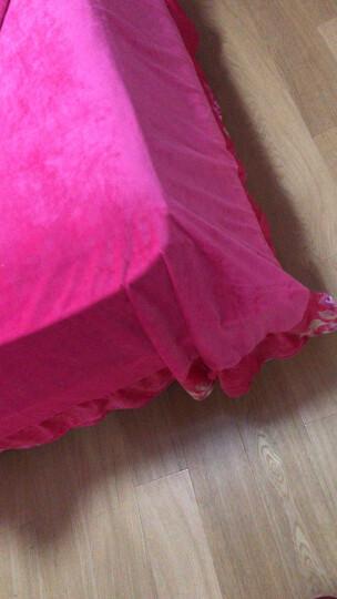 富芬娜水晶绒四件套秋冬加厚保暖法兰绒天鹅绒宝宝绒短毛绒珊瑚绒床上用品 富贵佳人-咖 1.8米床-适用(被芯200X230cm)四件套 晒单图