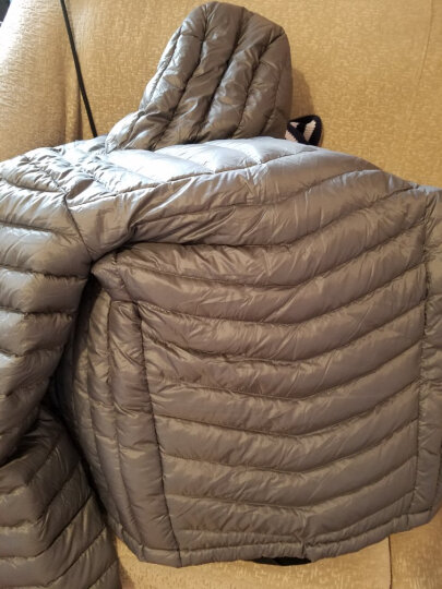 极星户外男女秋冬鸭绒羽绒连帽保暖棉服外套AGDA21162 男-炭灰 S 晒单图