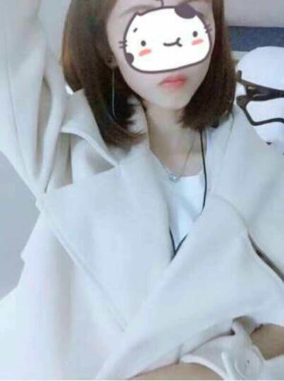 美梵林欧美风毛呢大衣女中长款2017秋冬新款女装韩版修身显瘦双排扣呢子外套女 中国红 XL 晒单图