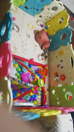 澳乐(AOLE-HW)儿童婴儿游戏围栏爬行垫围挡安全护栏宝宝学步围栏栅栏海洋球池室内玩具 跑跑熊12片+门栏+趣味栏 晒单图