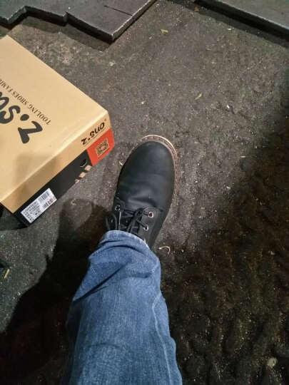 走索春秋时尚潮流男靴子马丁靴牛皮工装靴短靴高帮耐磨复古潮板鞋 黑色 40标准皮鞋码 晒单图