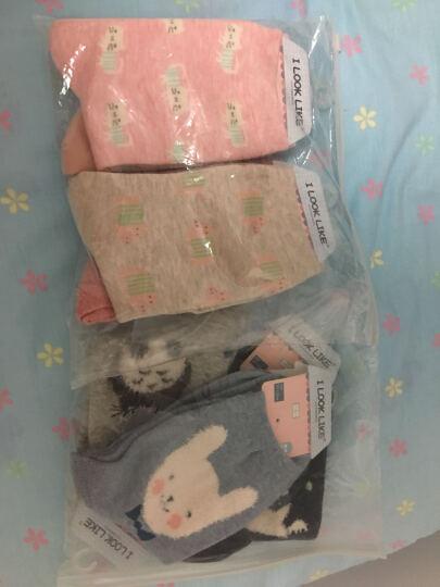 朵畔(DUOPAN) 中筒袜2016秋冬款可爱小动物系列休闲棉袜舒适透气中筒袜女4双装 粉色 晒单图