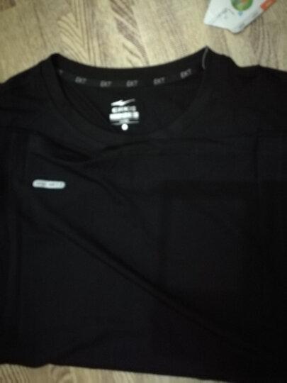 【京东配送】鸿星尔克女子网球服比赛上衣夏季新款清爽运动服上装 正黑 L 晒单图