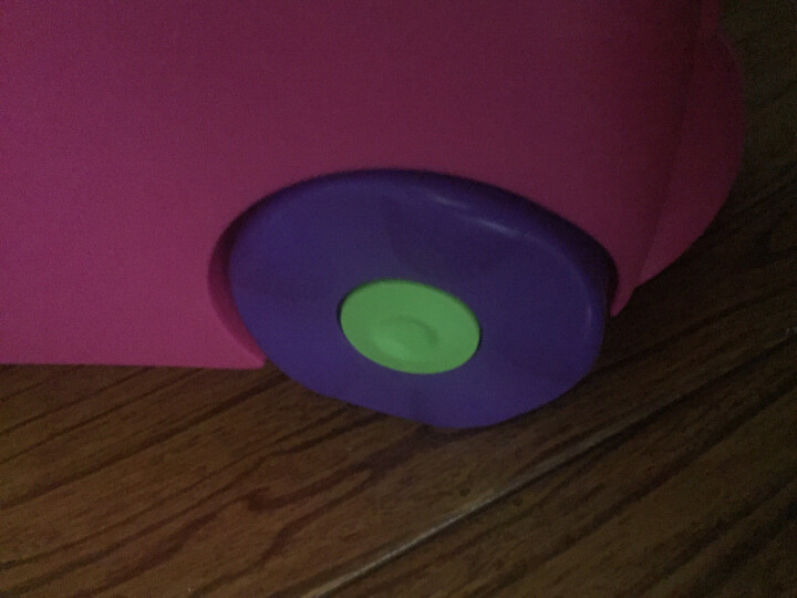 trunki儿童行李箱 卡通图案可坐骑拉杆储物箱 户外旅行箱18L-桃红色3岁以上 英国潮牌 晒单图