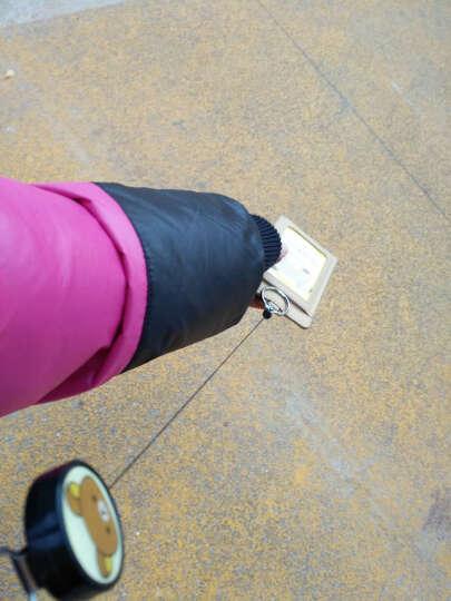 可伸缩挂绳公交卡套挂脖门禁卡套钥匙扣学生饭卡卡套地铁巴士卡包 卡通-灰色龙猫 晒单图