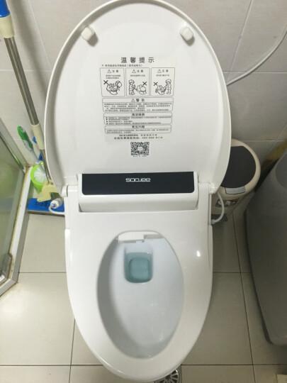 舜洁(soojee) 智能坐便器马桶盖板洁身器加热自动冲洗 带烘干 ZJ-BS833 白色 晒单图