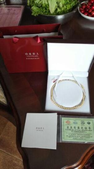 珍珠美人 金色海水珍珠项链 日本Akoya珍珠 正圆强光 送妈妈礼物【金色年华】 6.5-7mm46cm 晒单图
