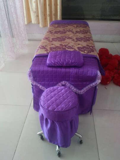 家逸纺 全棉美容床罩 美容SPA床罩纯棉被里提花美容院四件套美容床罩 牡丹盛世紫 80x200以内床通用四件套 晒单图