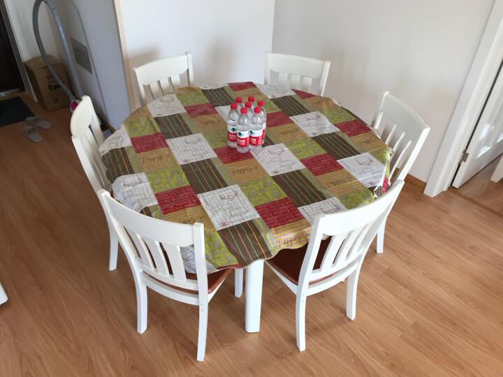 鲁菲特 餐桌 可伸缩折叠实木餐桌餐椅组合套装 饭桌子圆桌  LC-603 1.5地中海色 单桌 晒单图