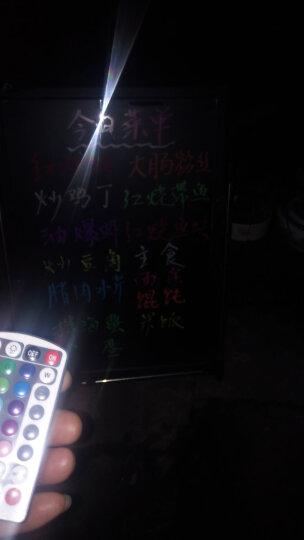 浙晟(zhesheng)LED电子荧光板支架式黑板显示广告板发光字留言板手写字板展示牌立牌 斜立架+粗笔+配件 50*70cm 晒单图
