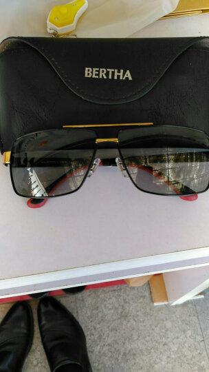 BERTHA智能变色偏光夜视镜防远光灯男司机驾驶墨镜开车日夜两用太阳眼镜 经典黑 金色腿 晒单图