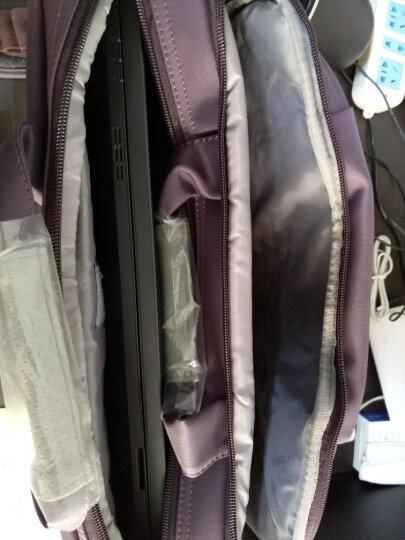 英制 BRINCH 电脑包大容量公文包手提包14.4英寸新款通用款防震防水商务单肩笔记本电脑包 BW-204 紫色 晒单图