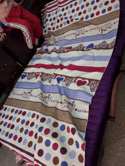everjoys 折叠床单人床1米2折叠午休躺椅行军床1.2米床双人午睡钢丝床简易办公室床 紫色 1.2米宽 晒单图