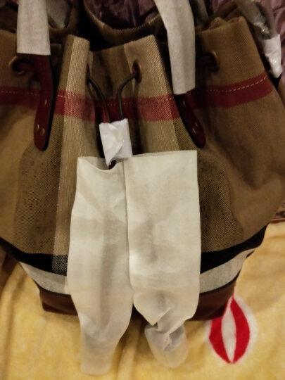 BURBERRY 巴宝莉 女士紫红色棉麻格纹手提单肩水桶包 40533251 晒单图