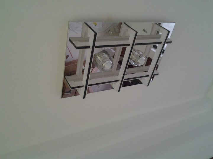 德洛特(dolot) 创意吸顶灯客厅灯现代简约长方形水晶led 卧室灯浪漫灯具温馨灯饰 9头93*93*12 暖白 晒单图